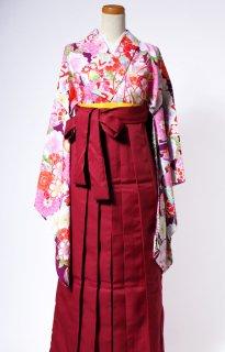 レンタル_KH18:紫地まりに花づくし[F]×えんじ袴