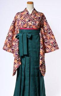 レンタル_KH21:紫地小花[F]×グリーン袴