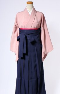 レンタル_KH23:ピンク無地[F]×濃紺袴