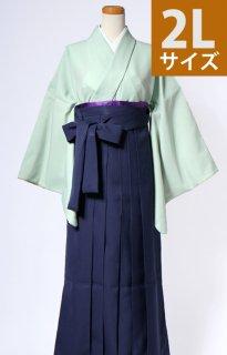 レンタル_KH24:グリーン無地[2L]×濃紺袴