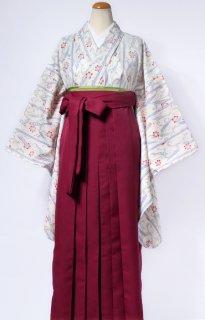 レンタル_KH01:白地笹に小桜[F]×えんじ袴