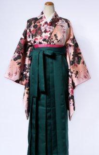 レンタル_KH04:花扇橙に黒[F]×グリーン袴
