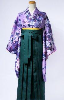 レンタル_KH06:花扇すみれ色に紫[F]×グリーン袴