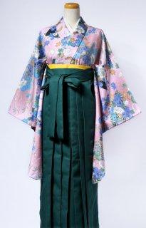 レンタル_KH07:花扇ピンクに瑠璃[F]×グリーン袴