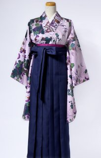レンタル_KH08:花扇浅紫に深緑[F]×濃紺袴