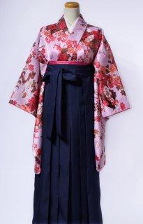 レンタル_KH10:花扇ピンクに橙[F]×濃紺袴