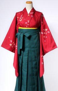 レンタル_KH12:赤地小花[F]×グリーン袴