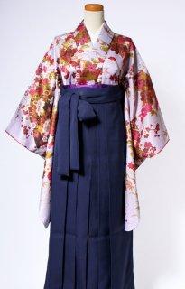 レンタル_KH14:花扇グレーにえんじ[F]×濃紺袴