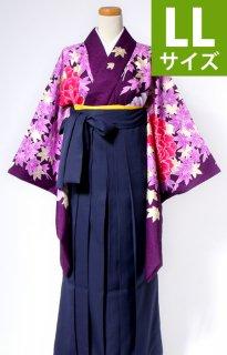 レンタル_KH15:紫地牡丹に紅葉[LL]×濃紺袴