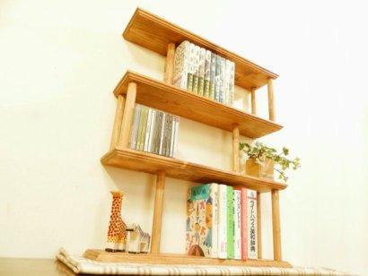 *ハンドメイド*Book & CDrack (Pole Type )Color:Teak