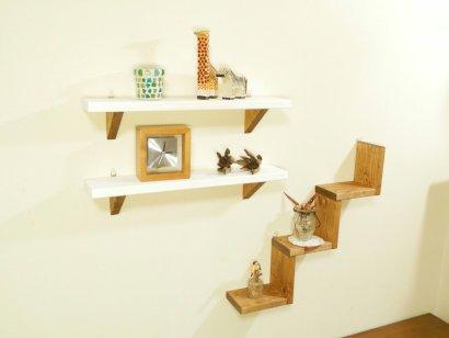 *ハンドメイド*3pieces  Stair ShelfColor:Teak&White