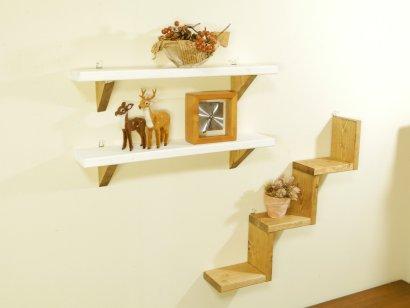 *ハンドメイド*3pieces  Stair ShelfColor:Ork&White