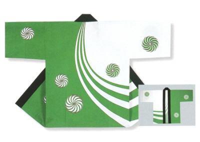 「若-6202」 本染め本格法被 タッサーブロード(綿100%) グリーン