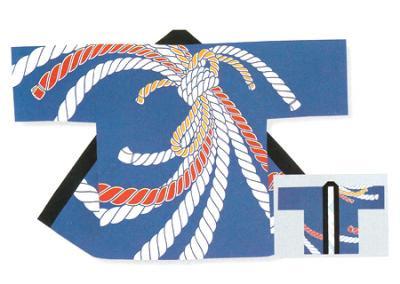 「若-6232」 本染め本格法被 タッサーブロード(綿100%) ブルー