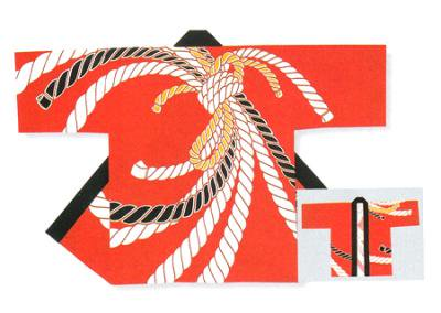 「若-6233」 本染め本格法被 タッサーブロード(綿100%) 赤