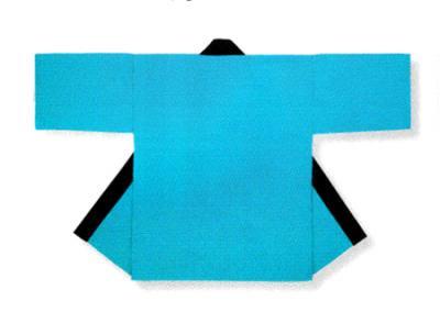 「養-53394」 無地子供法被 Gポプリン(綿100%) ライトブルー 同色帯付