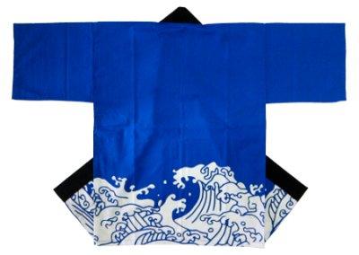 「波柄-ブルー」