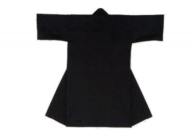 「根-6444」 黒・衿黒 子供用 ポリエステル100%