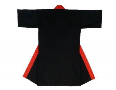 「篠-6441」 長丈 ポリエステル100% 黒・衿赤