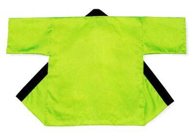 「て-9445」 サテン 蛍光黄緑