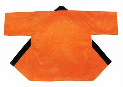 「て-9447」 サテン 蛍光オレンジ