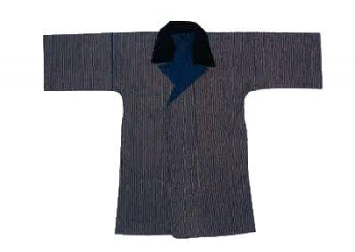 「外-583」 法被コート 濃紺縞