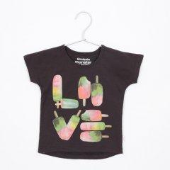 【SALE40%OFF】missiemunster [ミッシーマンスター] ポプシクルLOVEグラフィックTシャツ(ソフトブラック)