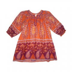 【SALE50%OFF】Pink Chiken [ピンクチキン] エキゾチックワンピース ava border dress sunset orange border print
