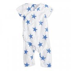 aden+anais [エイデンアンドアネイ] 半袖Kimono カバーオール ultramarine(ブルー星柄)