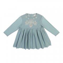 【SALE20%OFF】16AW Louisemisha [ルイーズミーシャ] Dress Leti Amande ミニワンピース(アマンドブルー)