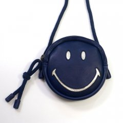 【SALE30%OFF】Easy Peasy RonRon Smiley Leather Round Bag ENCRE イージーピージー スマイリーポシェット(ネイビー)