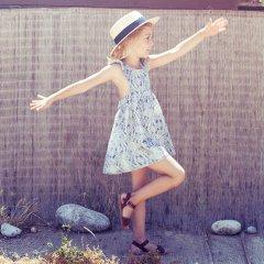 【SALE50%OFF】tocoto vintage BABY DRESS BANDANA PRINT BLUE トコト ヴィンテージ バンダナプリント ワンピース(ブルー)