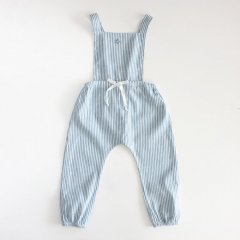 【SALE40%OFF】tocoto vintage  STRIPPED ROMPERS GREEN トコト ヴィンテージ ストライプロンパース(グリーン)