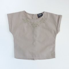 【SALE30%OFF】tocoto vintage EMBRODERY BLOSE LIGHT TANNED トコト ヴィンテージ 刺繍ブラウス(ライトタン)