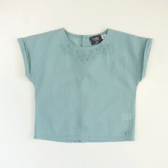 17SS tocoto vintage EMBRODERY BLOSE 009. GREEN トコト ヴィンテージ 刺繍ブラウス(グリーン)