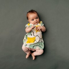 17SS kids case Lilly baby dress C. yellow キッズケース パフスリーブワンピース(イエロー)