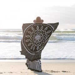 【SALE30%OFF】The Beach People ROUND TOWEL THE DREAMTIME ビーチピープル ラウンドタオル(ドリームタイム)