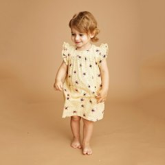 【SALE30%OFF】soft gallery Bebe Dress 044. Sunlight - AOP Polkaflyソフトギャラリー バタフライ柄ワンピース