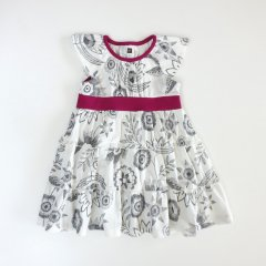 【SALE40%OFF】Tea Collection Everlasting Twirl Dress CHALK 花柄ワンピース(ホワイト)