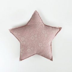 Numero74 STAR CUSHION LACE FLOWER SMALL Dusty Pink ヌメロ74 スターレースクッション スモール (ダスティピンク)