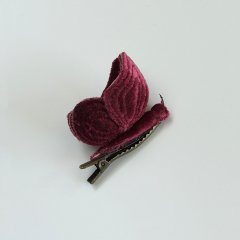 Numero74 BUTTERFLY HAIR CLIP Red Macaron ヌメロ74 バタフライ ヘアクリップ(レッド)