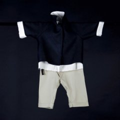 17AW Little Creative Factory Baby Andrew's Rain Trousers SANDY ベビーリボンパンツ(サンド)