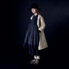 【SALE40%OFF】Little Creative Factory Nicole's Ruffled Dress SLATE ラッフルワンピース(ダークグレー)