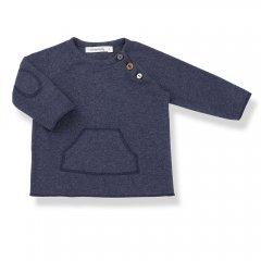 【SALE20%OFF】17AW 1+ in the family CONRAD t-shirt 108. blue ワンモアインザファミリー フロントポケット長袖カットソー(ブルー)