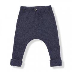 【SALE20%OFF】17AW 1+ in the family MARTIN leggings 108. blue ワンモアインザファミリー レギンス(ブルー)