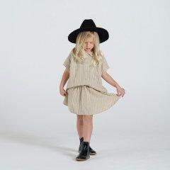【SALE50%OFF】Rylee + Cru stripe mini skirt vanilla/grey ライリーアンドクルー ミニスカート(ストライプ)