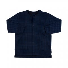 【SALE30%OFF】tinycottons grid cardigan dark navy/blue タイニーコットンズ グリッドカーディガン(ダークネイビー)