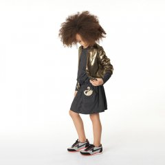 【SALE30%OFF】LITTLE MARC JACOBS DRESS 09B. BLACK リトルマークジェイコブス ボーダーワンピース