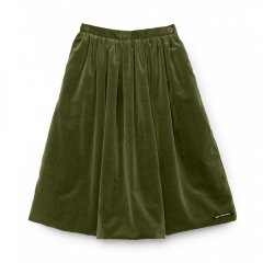 【SALE40%OFF】Little Creative Factory Rose's Velvet Skirt SOFT GREEN ベルベットスカート(ソフトグリーン)
