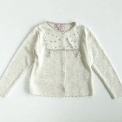 【SALE20%OFF】Lili Gaufrette LEMON Blanc d hiver リリ ゴーフレット 星刺繍カーディガン(ホワイト)